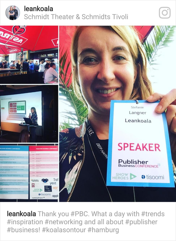 publisher business conference leankoala